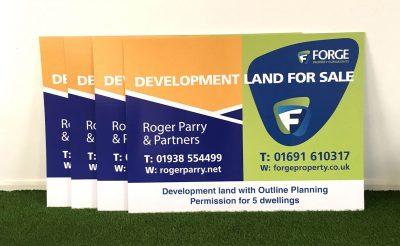 Forge Properties - Roger Parry - Estate Agents Sale Boards