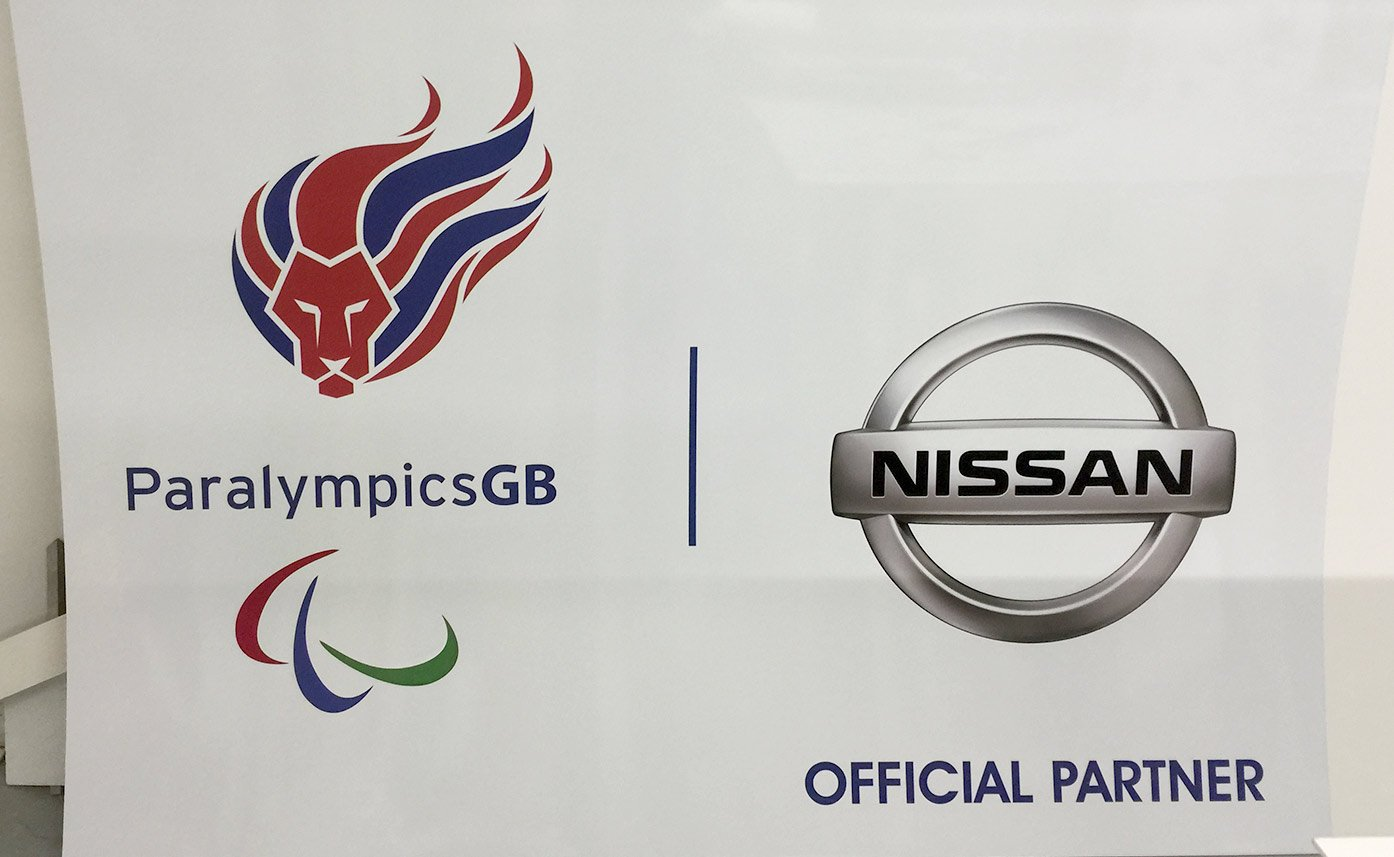 Event printing Nissan Paralympics GB sign