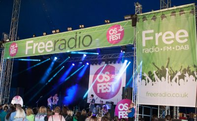 Event graphics Osfest music festival stage branding Os Fest