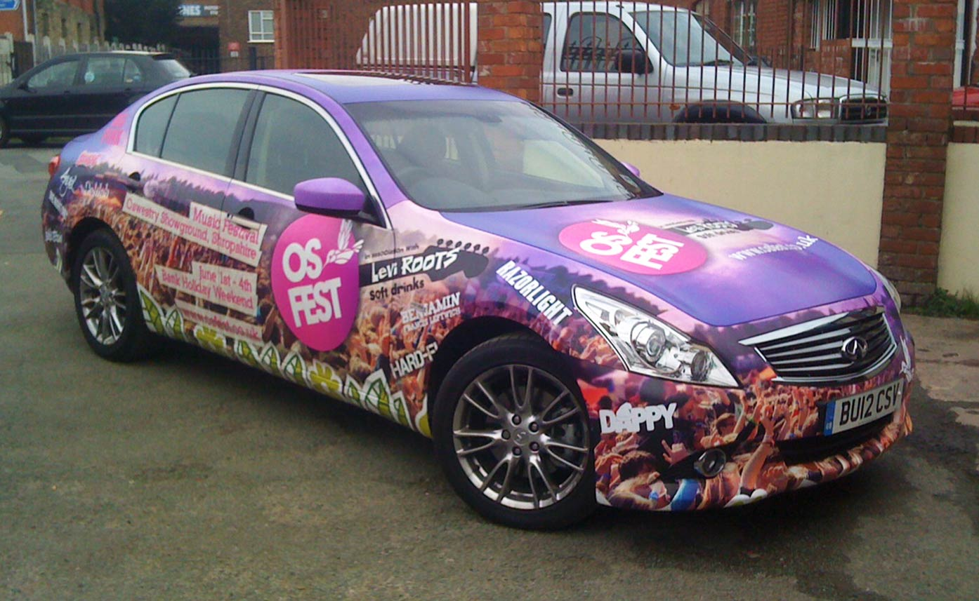 Osfest music festival - event graphics - vehicle wrap