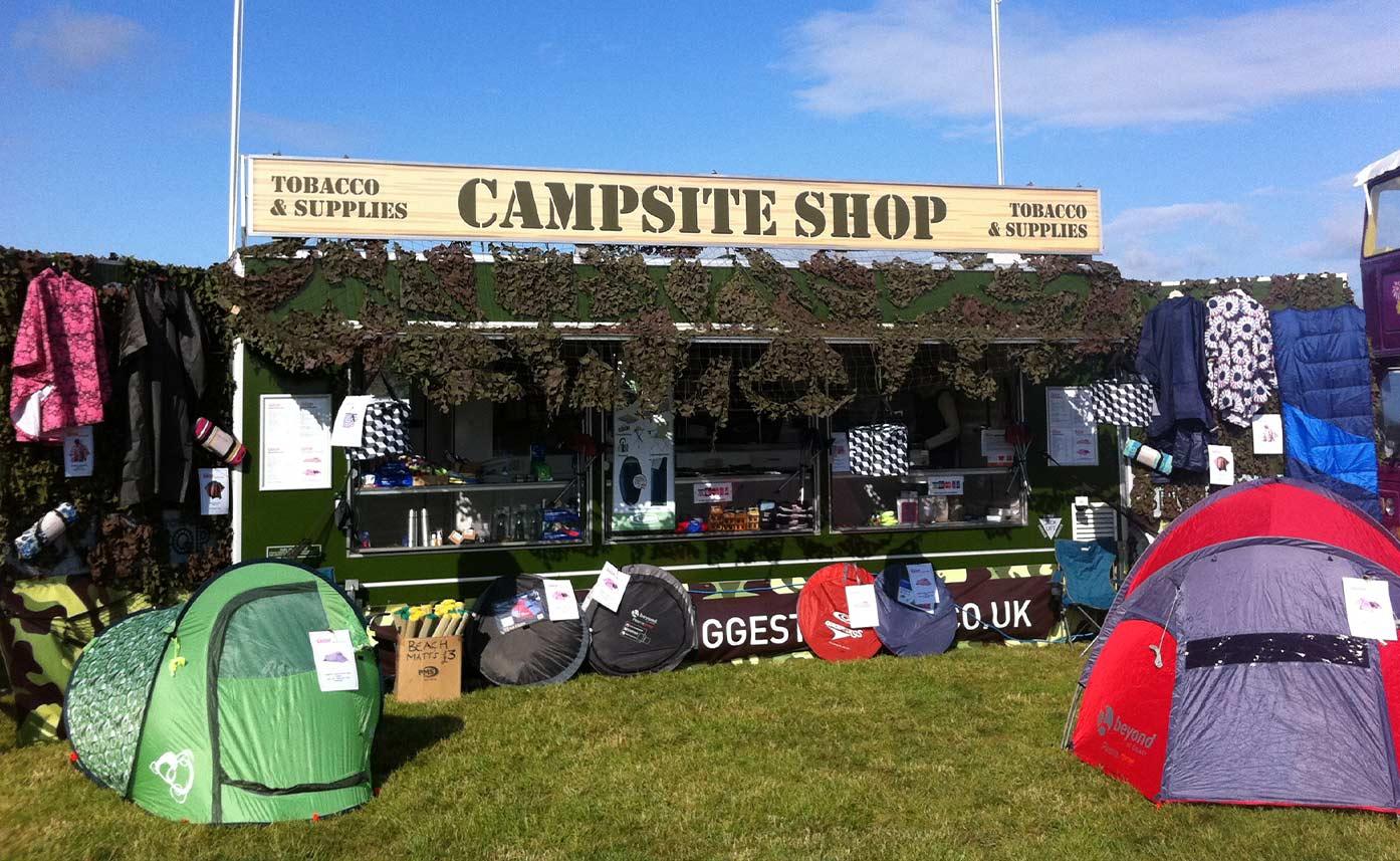 event printing - festival campsite shop