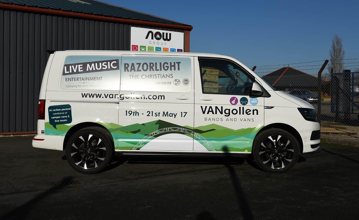 Vangollen Music Festival Event Graphics - Printed vehicle wrap