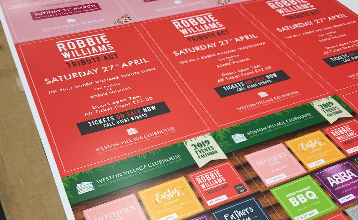 Event Graphics - Weston Village Clubhouse