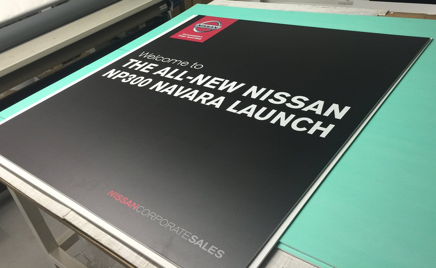 Event printing Nissan Navara Event Launch Foamex board