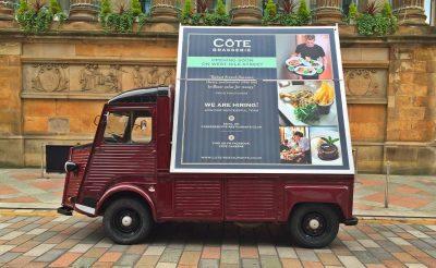 Cote Brasserie - Advertising Vehicle billboard