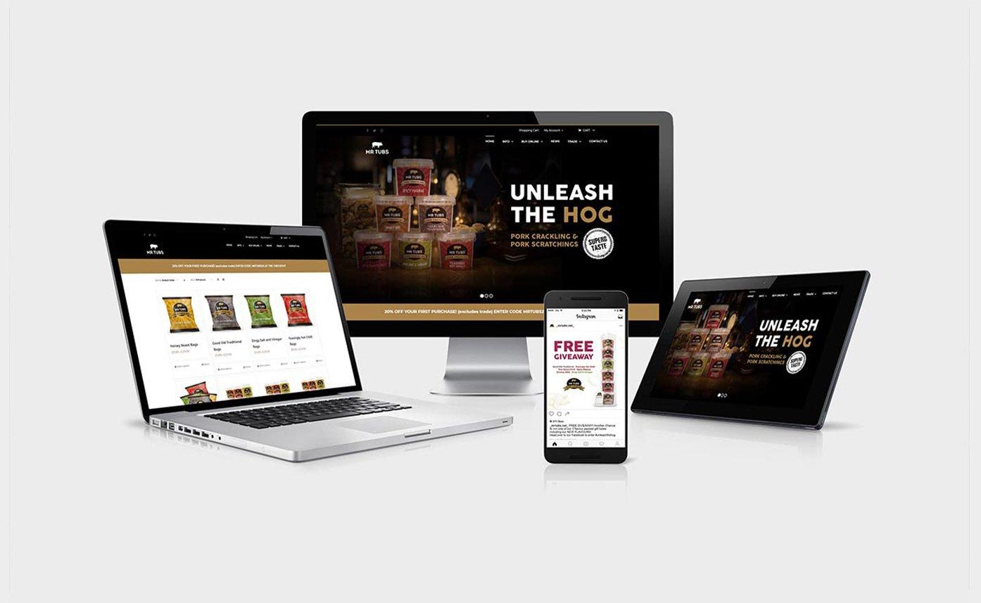 Mr Tubs Food Website Design in Wrexham - Web Design Oswestry