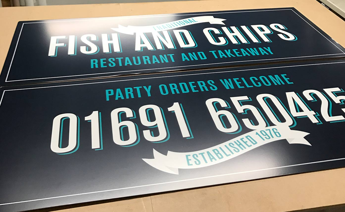 Fish and Chips Shop sign - Sign boards