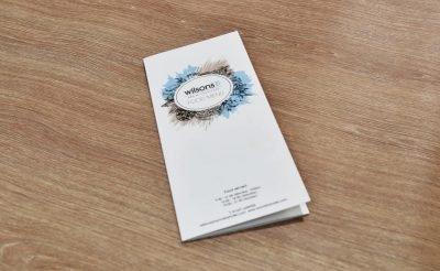 Wilsons Oswestry Food Menu - Printed folded menus