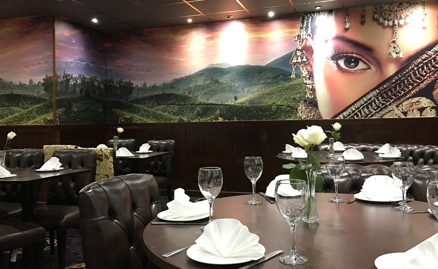 Cafe India Wall print - Printed wall mural restaurant
