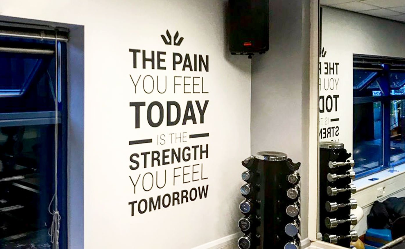 The Venue Gym Wall Graphics