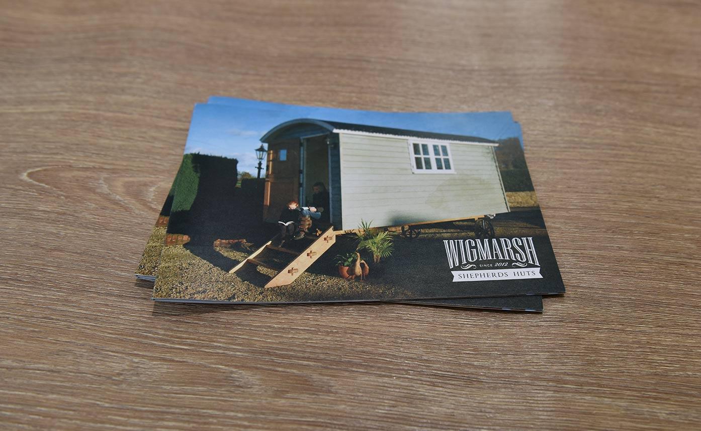 Wigmarsh Shepherd Huts - Printed brochures