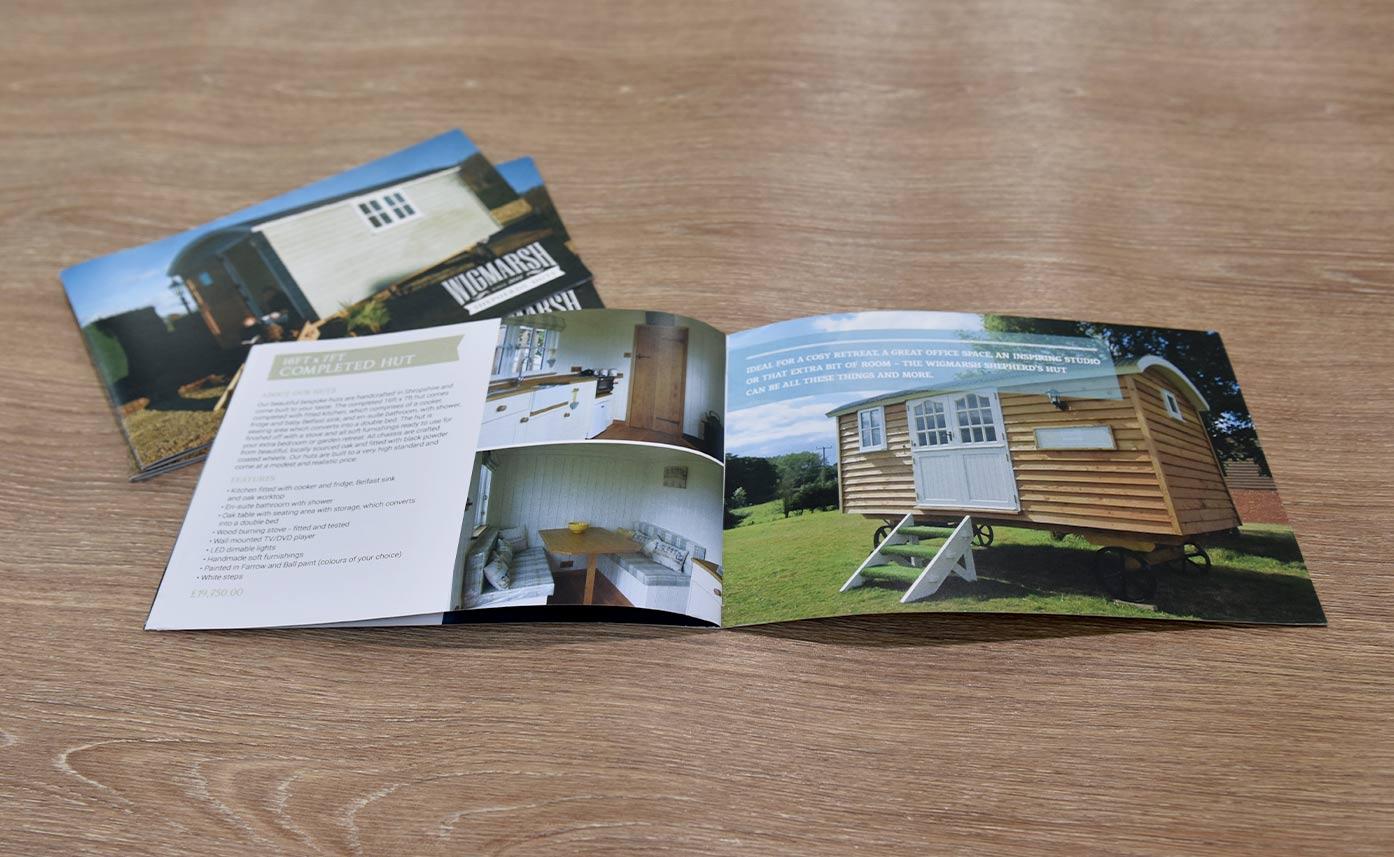 Wigmarsh Shepherd Huts - Brochure printing