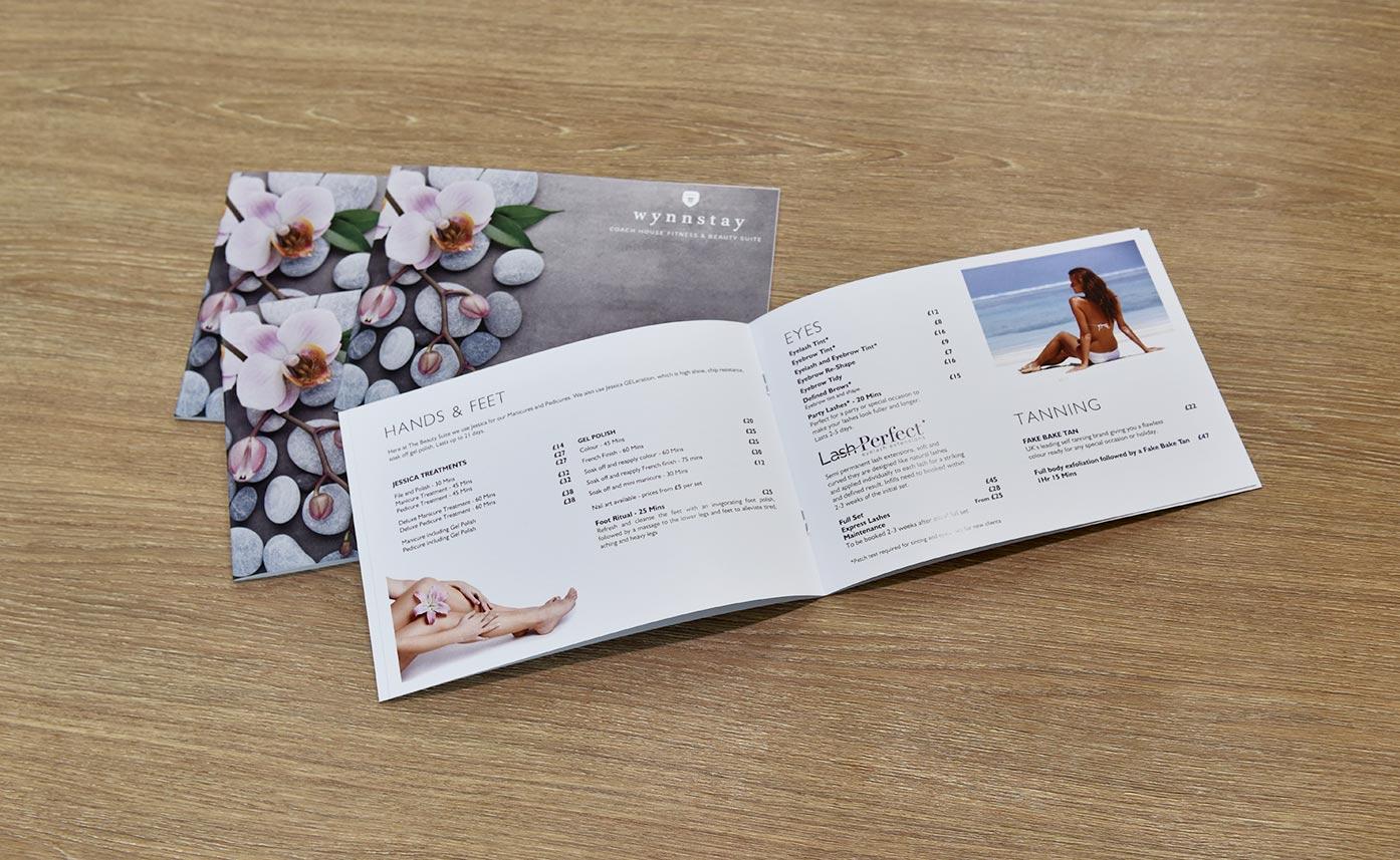 Wynnstay Beauty Suite Oswestry Spa Brochures