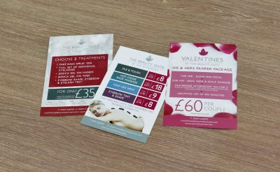The Beauty Suite Printed Promotional Flyers