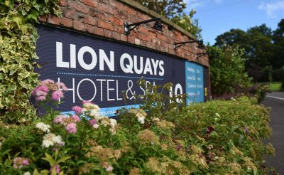 The Lion Quays Printed Outdoor Sign