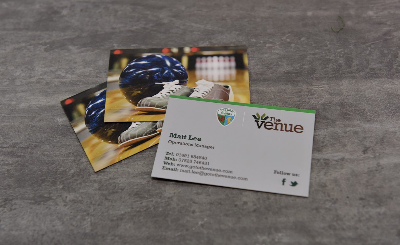 The Venue Oswestry Business Cards