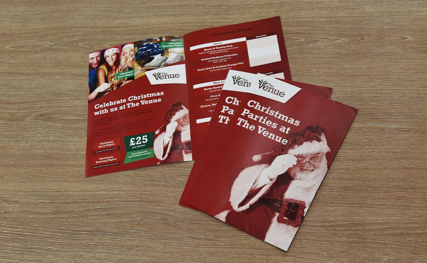 The Venue Oswestry Printed Christmas Flyers