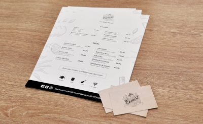 The Cemist Oswestry Menu - Small Format Printing