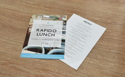 Wilsons Rapido Lunch Flyers - Small format printing