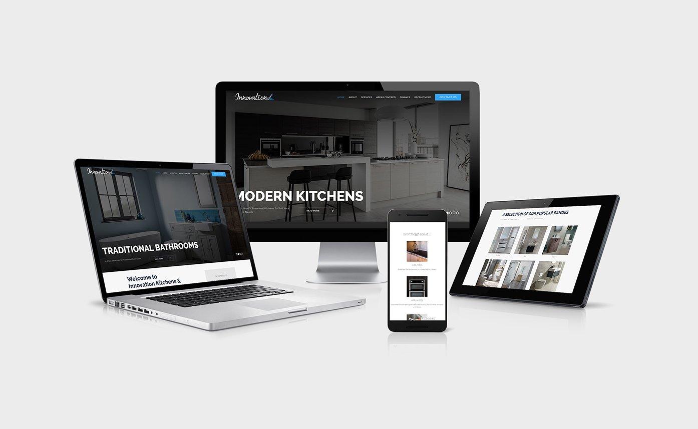 Kitchen and Bathroom Website Design for Innovation KB