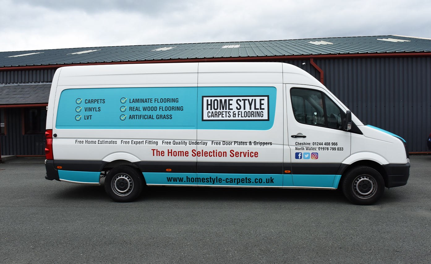 Homestyle Carpets Vehicle livery - Blue Vehicle Wrap