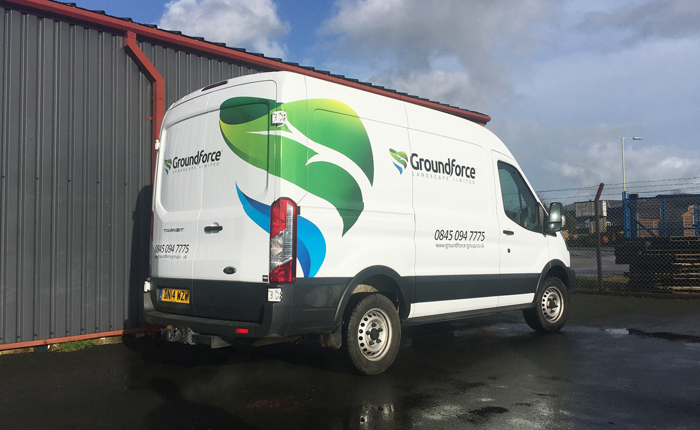 Groundforce Landscaping vehicle livery vehicle wrap