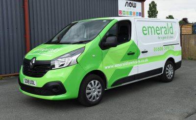 Emerald Lawn Care Vehicle Wrap landscaping vehicle