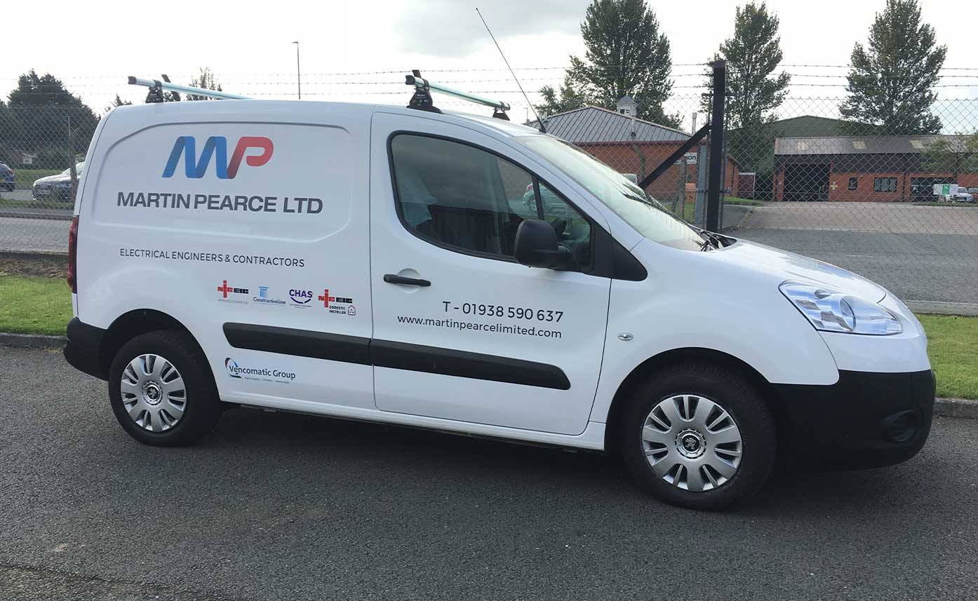 Martin Pearce Electrical Engineer Vehicle Wrap