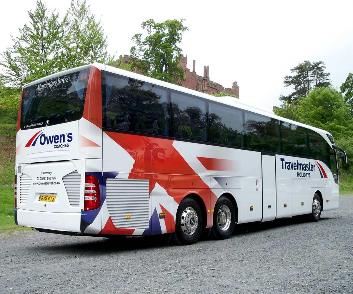 Owens Coaches Mercedes Tourismo Vehicle Wrap