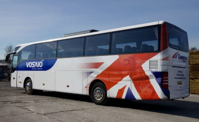 Owens Coaches Vosaio Union Jack Wales Coach Wrap