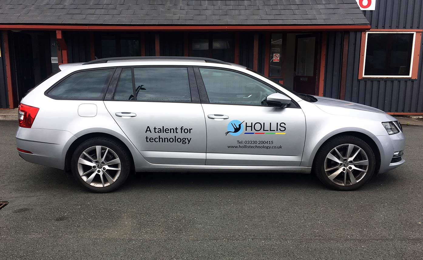 Hollis Technology silver car livery