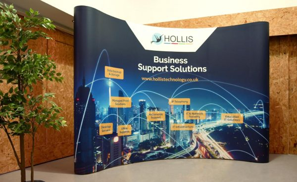 Hollis Technology printed pop up exhibition stand