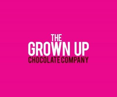 Grown up Chocolate Company logo pink