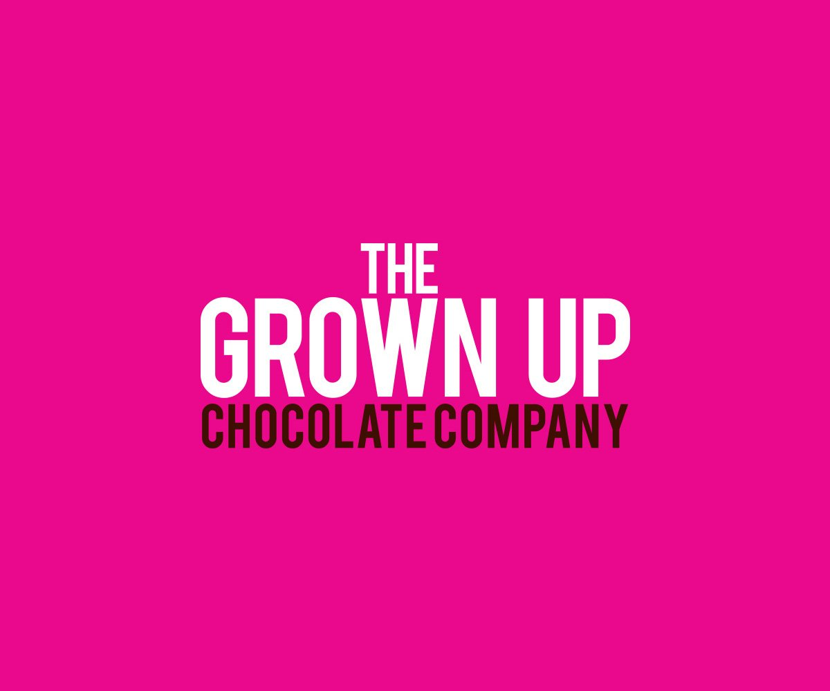 Grown up Chocolate Company logo pink