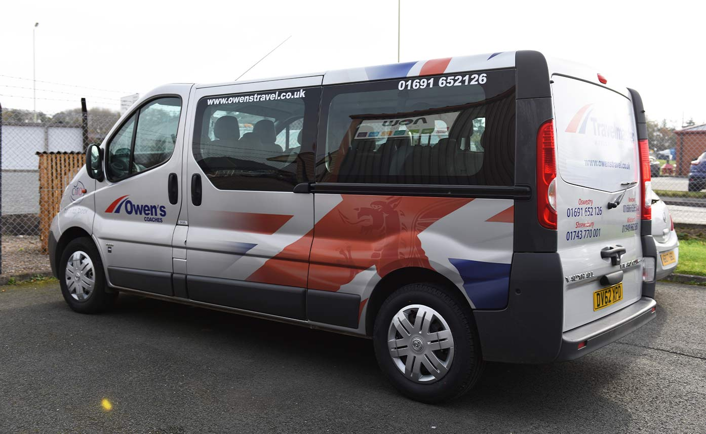 Owens Coaches Oswestry Minibus Wrap