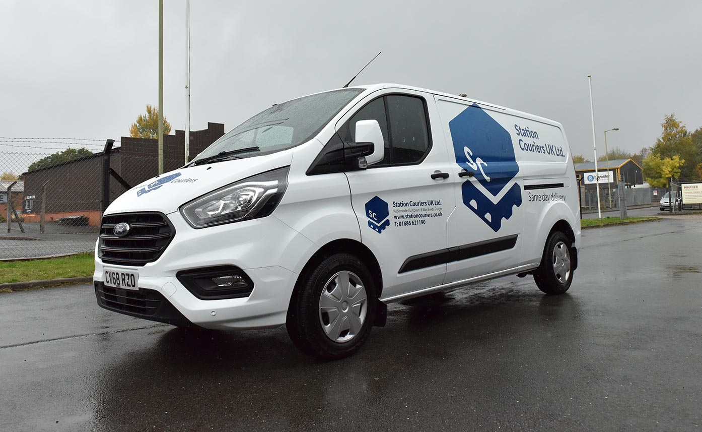 Commercial Vehicle Wrap for Station Couriers Ford Custom Vehicle Livery - courier vehicle wrap