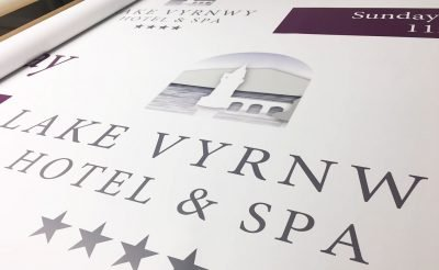 Lake Vyrnwy Hotel and Spa printed banner
