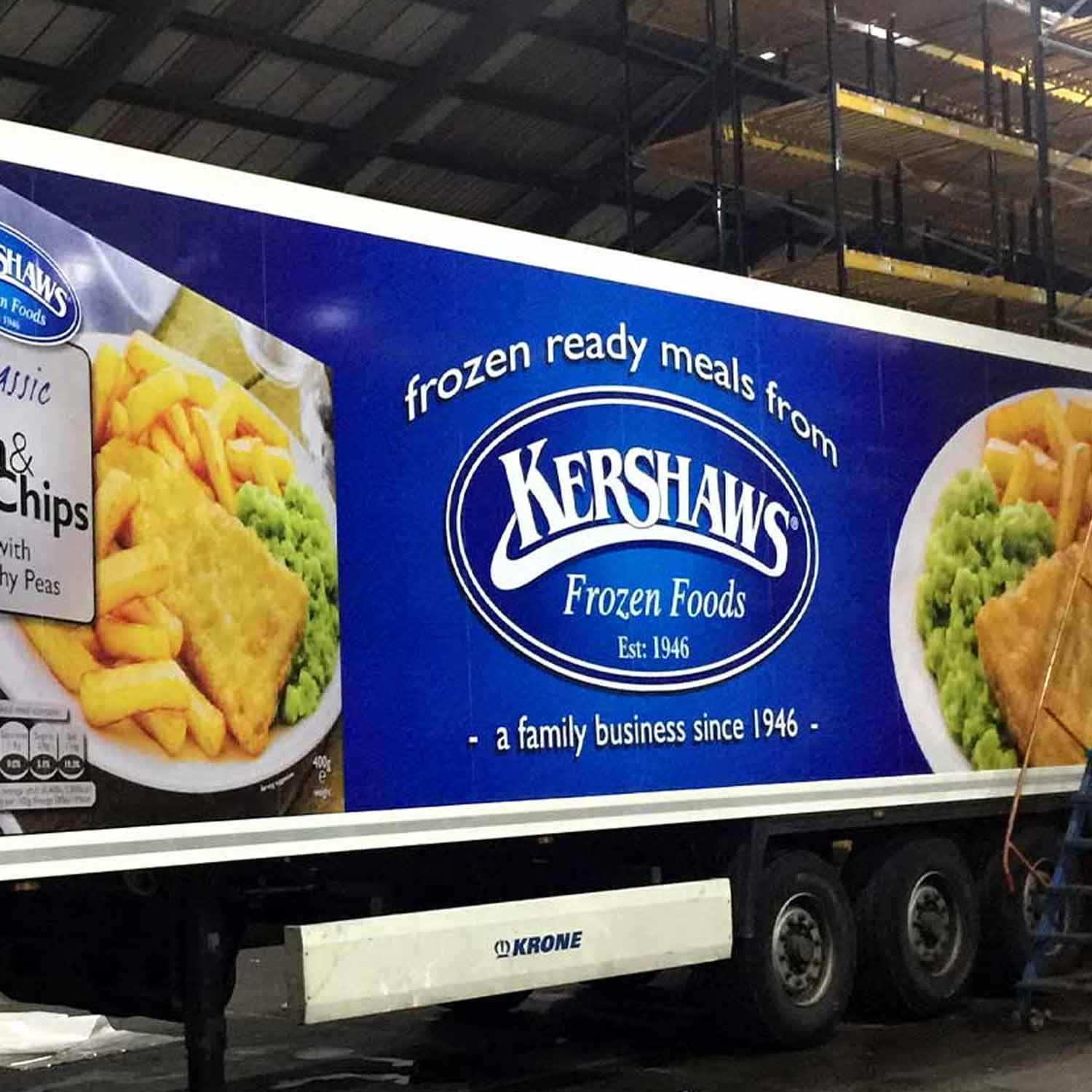 kershaws Frozen Foods HGV Advertising printed wrap