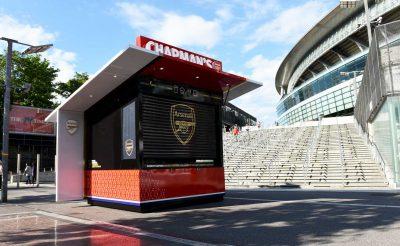 Chapmans Kiosk Arsenal FC Food Kiosk Emirates Stadium