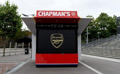 Chapmans Kiosk Arsenal FC Food Kiosk front Emirates Stadium