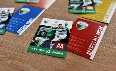 TNS Passes - The New Saints Oswestry Printed Passes
