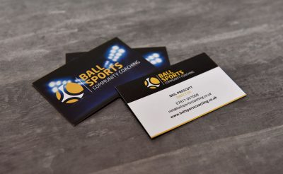 Ball Sports Oswestry Community Coaching - Business Cards Promo Print