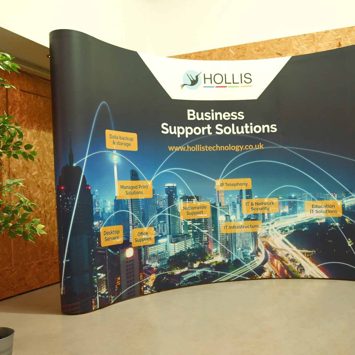 Hollis Technology Printed Exhibition Stand