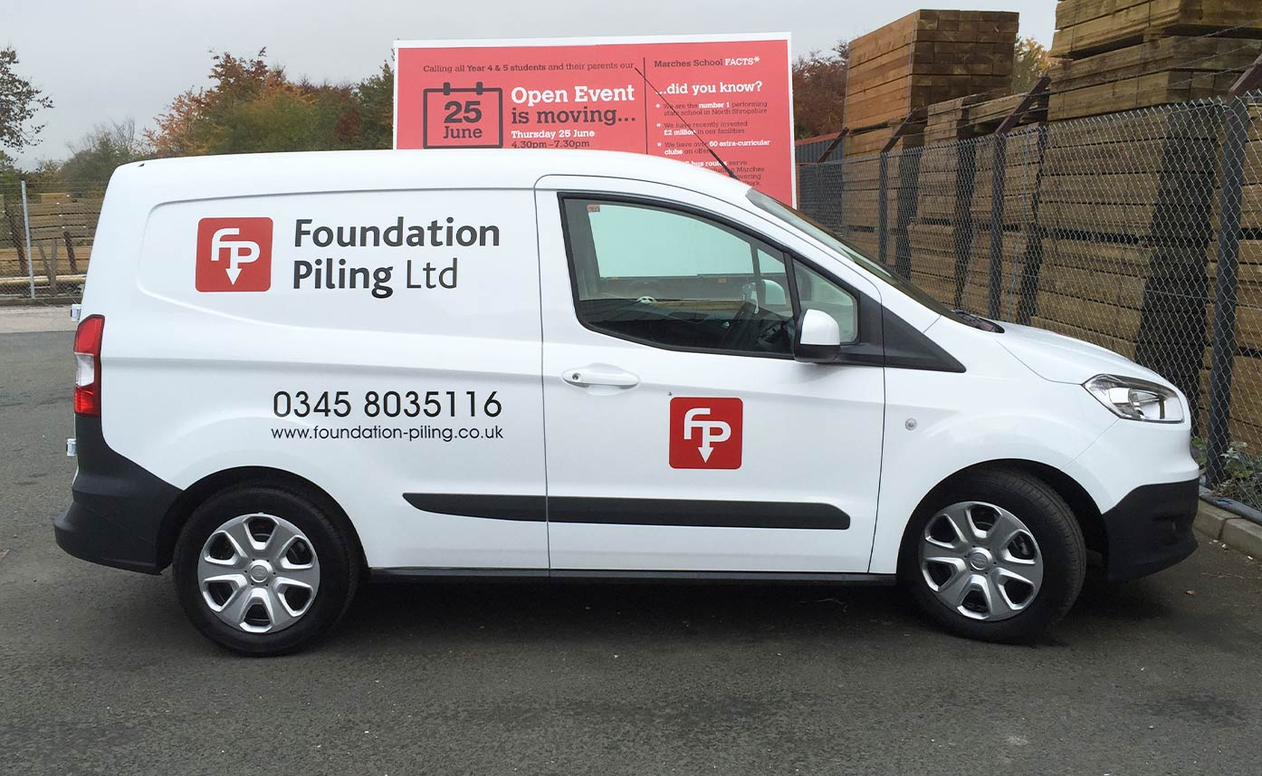 Foundation Piling Ford Courier Graphics