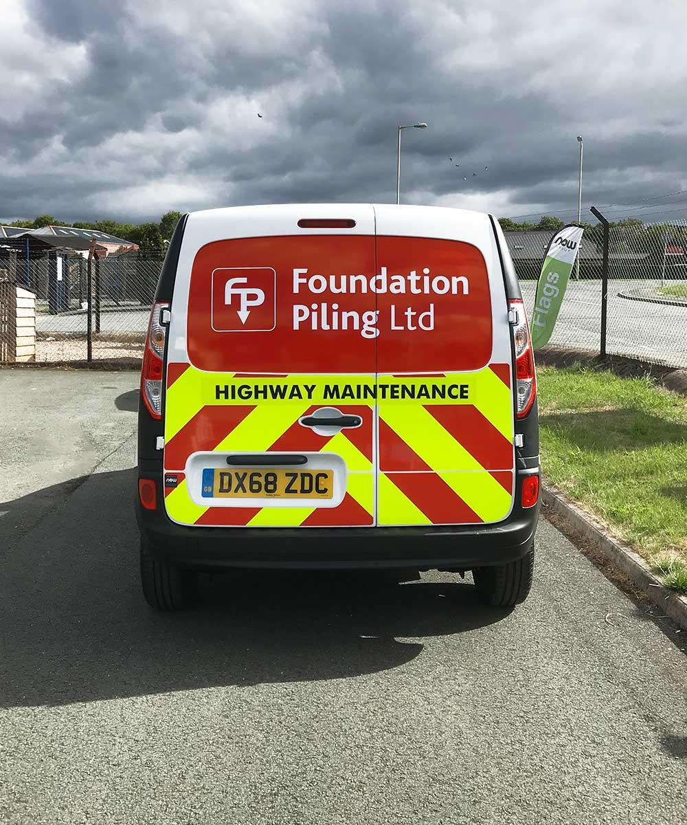 Renault Kangoo Highway Maintenance Stickers - Foundation Piling