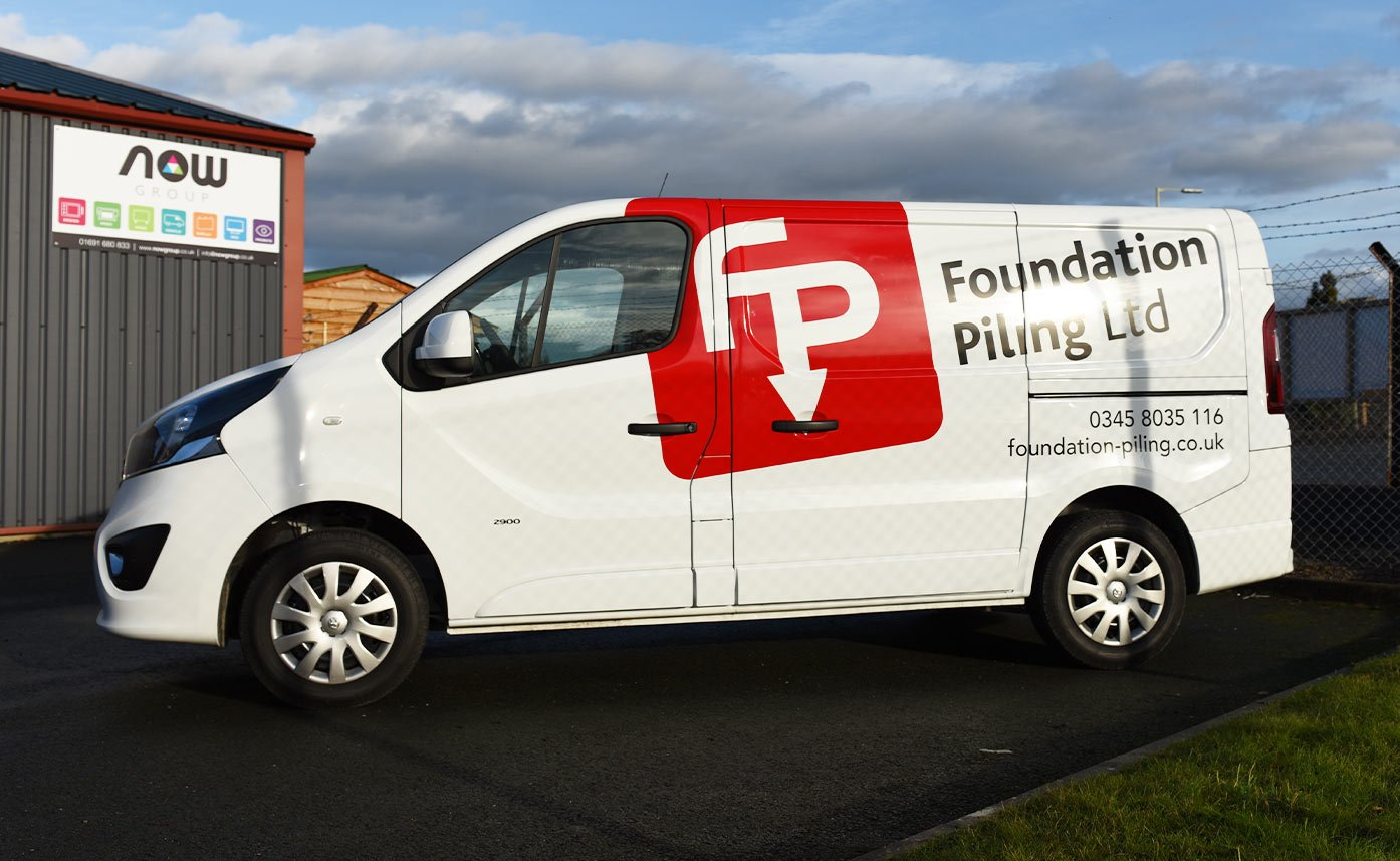Foundation Piling Vehicle Wrap to Vauxhall Vivaro