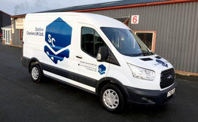 Courier Vehicle Graphics - Station Couriers
