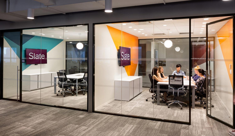 Meeting Room Branding in office - printed wall graphics in meeting area