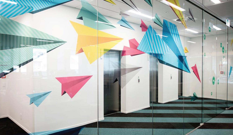 Office Branding Printed Window Glass Manifestations