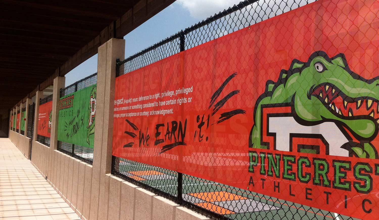 Printed Fence Banner - Mesh Banner Printing